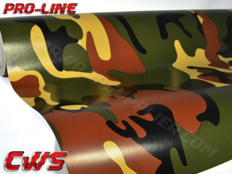 Camouflage Woodland vinyl wrap