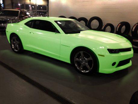 Glow In The Dark Green Glow car vinyl wrap