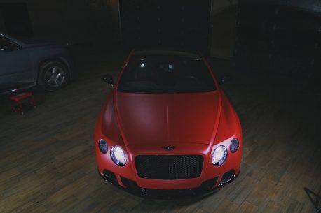 Premium Plus Matte Metallic Lava Red Ghost car wrap vinyl film