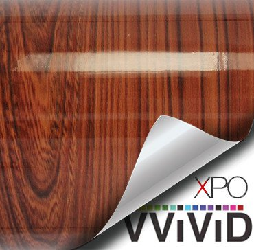 gloss red cedar architectural wood grain vinyl wrap