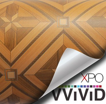 Parquette architectural wood grain vinyl wrap