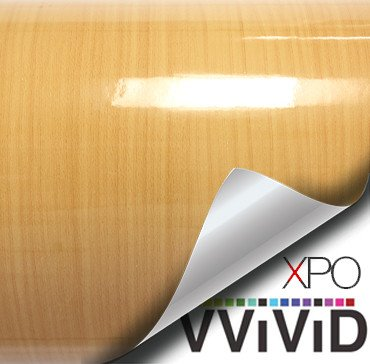 gloss pine gold architectural wood grain vinyl wrap