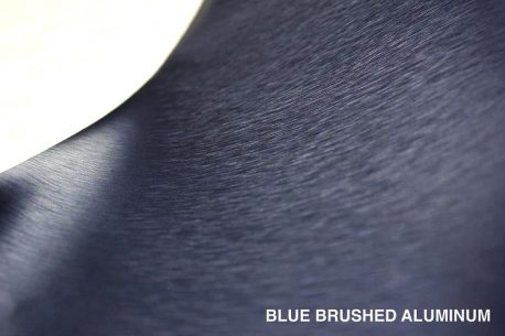 Brushed Aluminum Navy Blue Vvivid Vehicle Vinyl Film