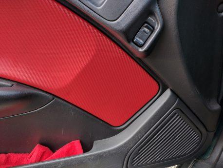 Red Carbon Fiber Car Wrap Vinyl Film
