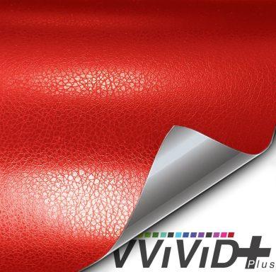 Red Leather Vehicle Vinyl Film