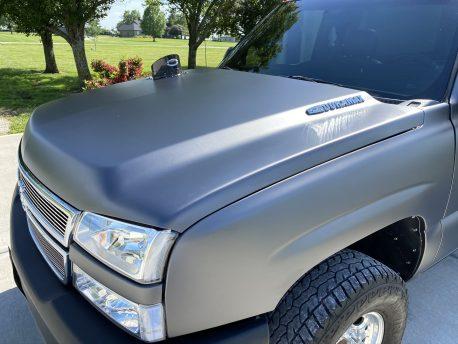 Matte Metallic Charcoal Gray car wrap vinyl film
