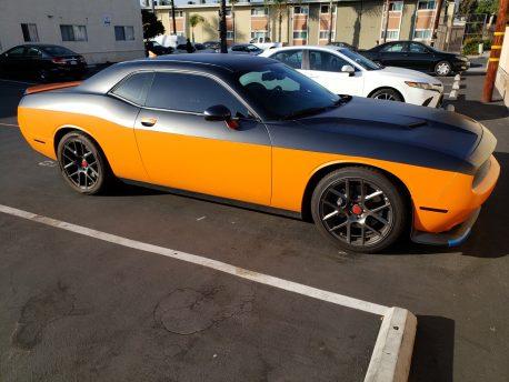 Premium Plus Matte Metallic Orange Ghost car wrap vinyl film